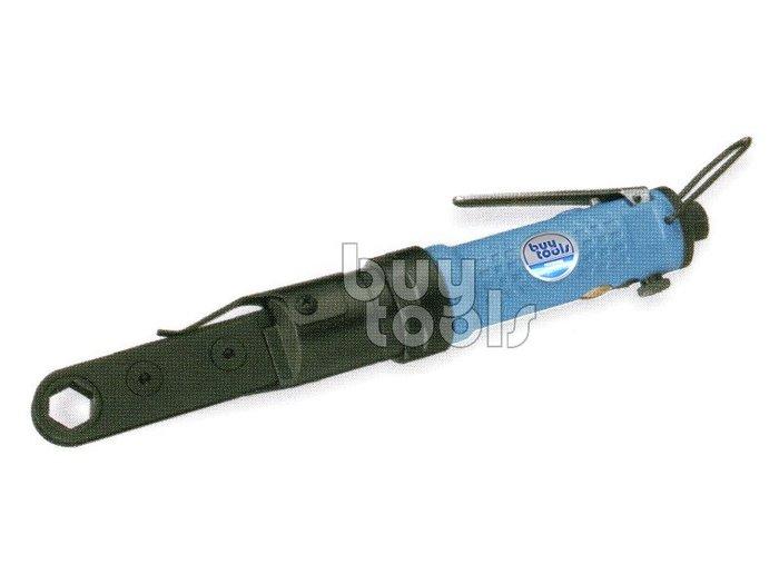 Buytools-《專業級》極小空間專用超薄型氣動棘輪板手/穿孔式棘輪板手/可換式內建套筒10~19mm/台灣製「含稅」