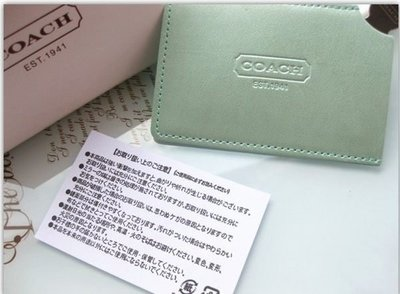 8dc4d3d4c014 ☆Juicy☆日本限定COACH卡片型不鏽鋼拉絲化妝鏡-含卡套