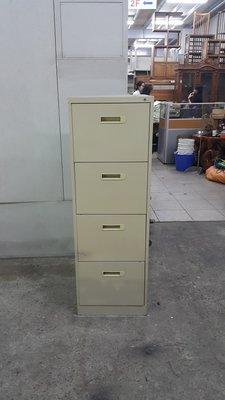樂居二手家具 全新中古傢俱賣場 C0102AJE*4抽文件櫃*四抽鐵櫃 卡片箱 文件櫃 檔案櫃 公文櫃 二手辦公家具買賣