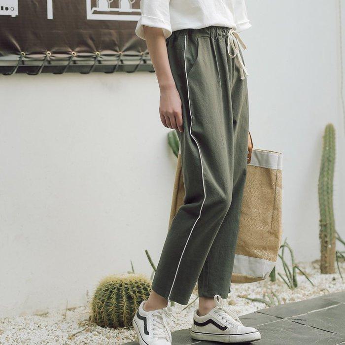 SeyeS fruits街頭個性簡約運動風抽繩褲