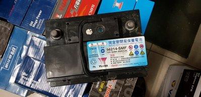 (鶯歌中古電池) YUASA 56214-SMF 免保養汽車電池 數值漂亮,品項優 同55457 55566歐系車專用