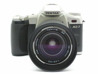 PENTAX MZ-7 單眼機身 + Tokina AF 28-80mm F3.5-5.6 變焦鏡頭 底片機 相機組