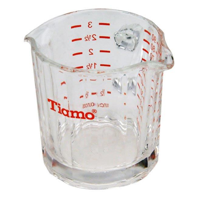 🌟現貨🌟Tiamo HG1762R 雙嘴 有柄量杯 90ML 義式咖啡量杯 量杯 玻璃量杯 shot杯 盎司杯