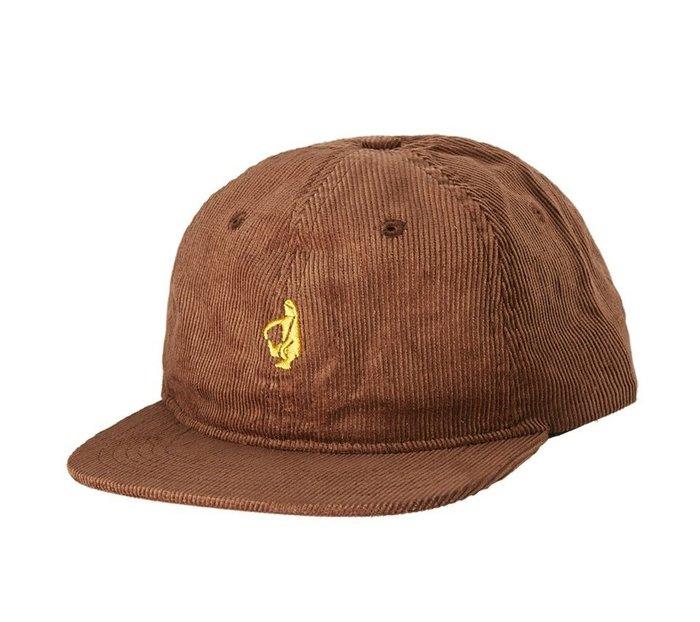 { POISON } KROOKED SHMOLO STRAPBACK HAT 經典人型刺繡燈芯絨面料 皮格調節棒球帽