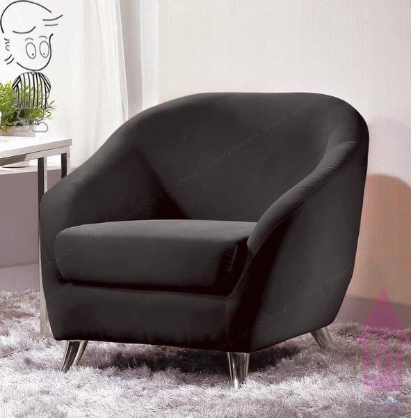 【X+Y時尚精品傢俱】現代沙發系列-夏綠蒂 休閒椅(黑絨布).單人椅.電鍍合金腳座.摩登家具