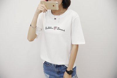 =DiuDiu=韓國首爾 時尚精品 東大門同步 夏季新款韩版胖mm時尚圆领短袖T恤17837