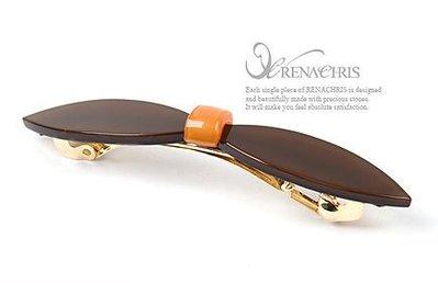 BHI251-法國品牌RenaChris 簡單大方蝴蝶結長髮夾 彈簧夾-附原裝包裝盒【現貨】韓國製