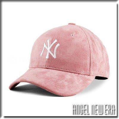 【ANGEL NEW ERA 】MLB Old Fashioned Cap NY 紐約 洋基 類 麂皮 老帽 粉紅 鴨舌