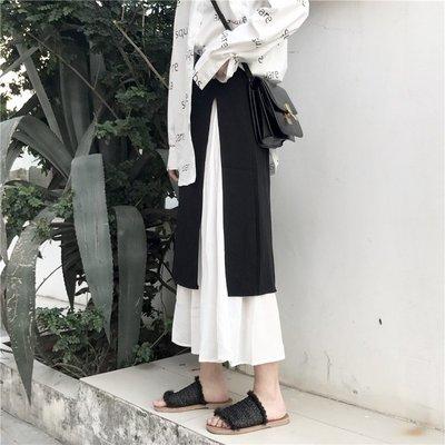 半身裙a字不對稱個性裙子女潮心機設計感港風復古chic學生潮