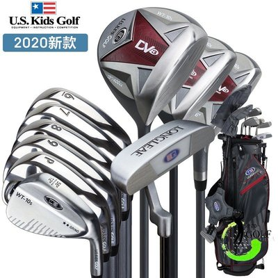 高爾夫球桿U.S.KIDS兒童高爾夫球桿u.s.kids男女童青少年初學練習桿5/10支裝