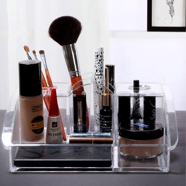 5Cgo【鴿樓】會員有優惠  38667989232 透明韓國化妝品盒超大號 梳妝台護膚品收納盒 DIY塑料盒 儲物