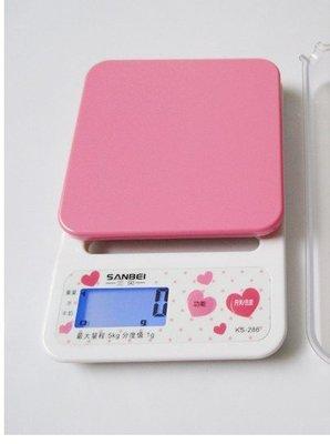 【新上架】可愛粉紅 3公斤電子秤 精度值0.1公克 冷光 料理秤 磅秤 扣重歸零 秤食物 迷你台秤 烘焙秤【E011】