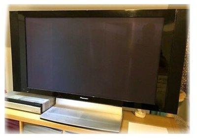 【收納家h】--PIONEER 59億色彩 43型電漿電視 PDP-pg-436(含日本BS衛星功能含CARD)