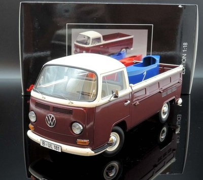 【MASH】現貨瘋狂價 Schuco 1/18 VW T2a pick up with 2 soapbox