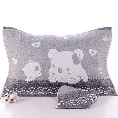BabyFace【三層紗】紗布料趴趴狗枕巾枕頭紗布巾透氣舒適自用送禮四季皆宜(50*75)