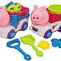佳佳玩具 - - - - -  大豬頭沙灘車 小豬 玩沙工具...