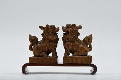 【聽竹軒】木雕對獅