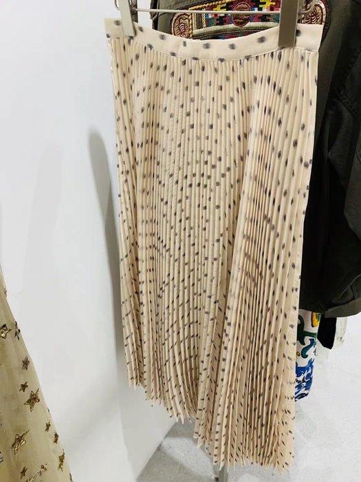 D家 波點長百折裙