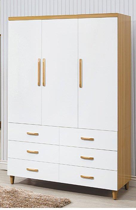 【DH】貨號E623-4商品名稱《寶格麗》4X7尺雙色六抽衣櫃(圖一) 備有3X7尺三抽可選.台灣製可訂做主要地區免運費