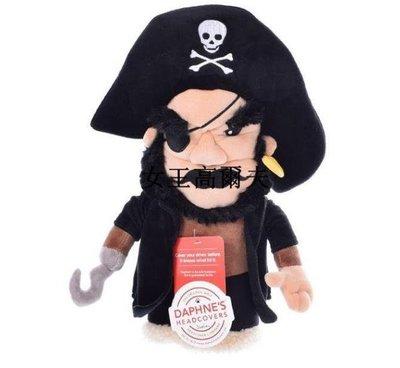 新款 海盜木桿套 高爾夫桿頭套 海盜卡通一號木桿套高爾夫球桿套戶外