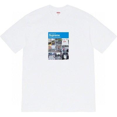 正確Supreme 20FW Verify Tee 驗證碼 街景風景 九宮格 短袖T恤