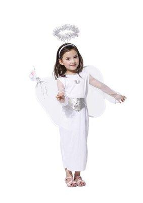 乂世界派對乂萬聖節服裝,聖誕節服裝,變裝派對,兒童變裝服-天使服-白雪天使裝