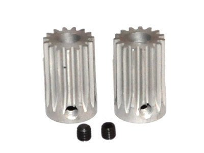 Outrage 鋼製齒輪軸 15T 0.8M (5mm shaft)-2入(HR1178-15SS)