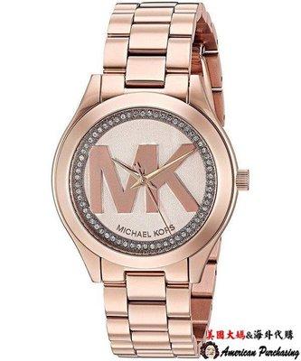 154bfe68017b 美國大媽代購Michael Kors MK3549 MK手錶玫瑰金耀眼晶鑽手錶女錶