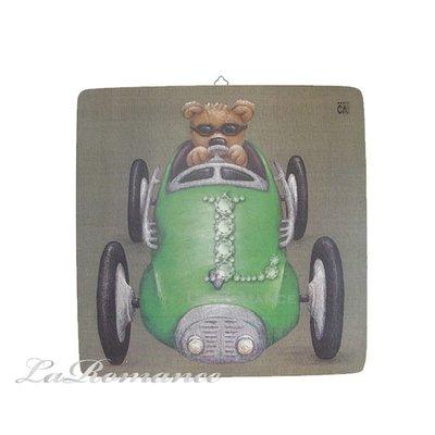【芮洛蔓 La Romance】義大利 Dekor Toscana 兒童版畫 - 賽車小熊 / 掛畫 / 壁畫 / 掛飾