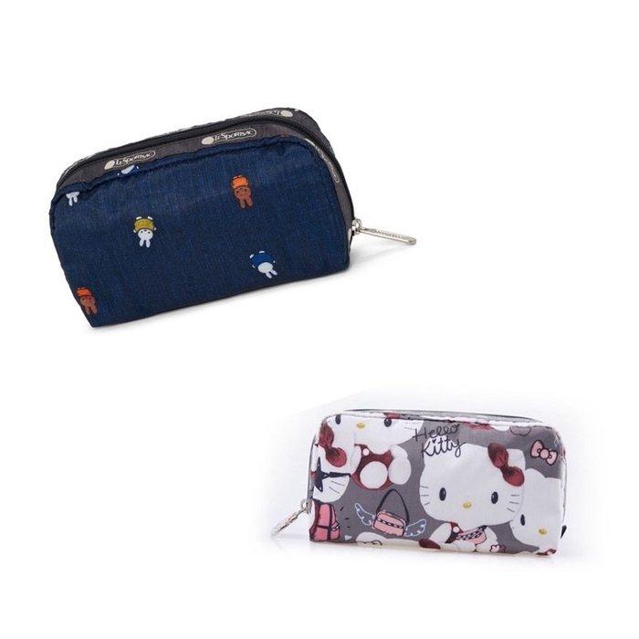 ♥ 小花日韓雜貨 ♥ 新款Lesportsac 6511 miffy兔 KITTY手拿包化妝包筆袋