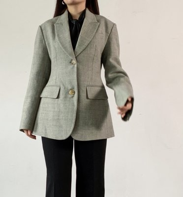 P15 Single-Breasted A-Line Jacket