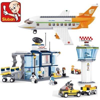 【優上精品】小魯班 拼裝積木塑料拼插 兒童益智玩具城市系列 航空飛機(Z-P3248)