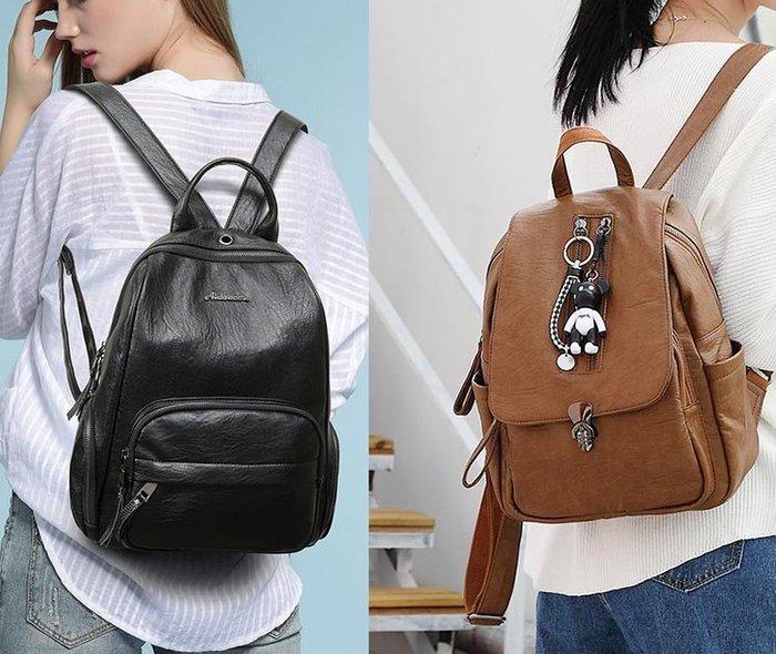 後背包  女用後背包推薦 精選二款任選 可愛小熊吊飾 雙肩包 DL 6610 6622【 FQ包包】