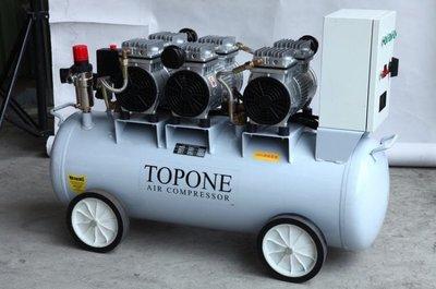 """""""工具醫院"""" TOPONE 5.5HP*62L 無油式空壓機 超靜音 空壓機 6汽缸 單相220V 空氣壓縮機"""
