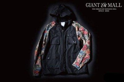 【GIANT MALL】WILD BUNCH FLORAL WINDBREAKER JKT 聯名 花袖 拼接 防水 風衣外套 黑色