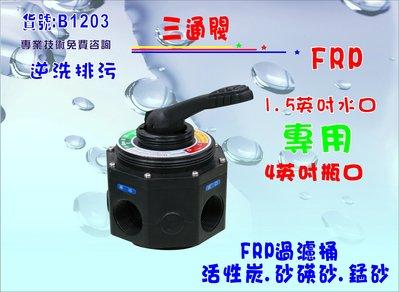【巡航淨水】FRP桶手動沖洗控制閥.水塔過濾器.餐飲.淨水器.RO純水機前置.地下水處理.貨號B1203