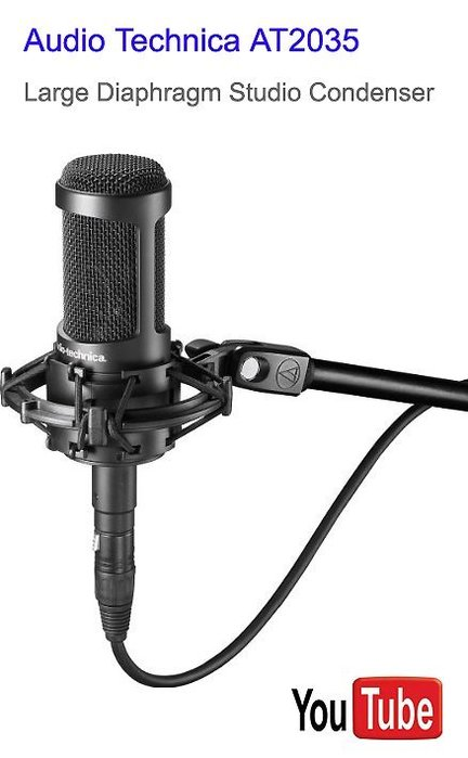 鐵三角 Audio-Technica AT2035 電容式麥克風 at2020新款送166音效