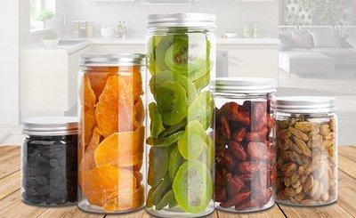 {采庭生活館}6.5*12cm(10個)銀鋁蓋密封罐 PET塑膠罐 透明罐 收納罐