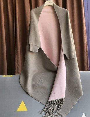 【An Ju Shop】外單 歐美西班牙風 秋冬款 時尚保暖流蘇披肩 針織女外套斗篷~OH224003