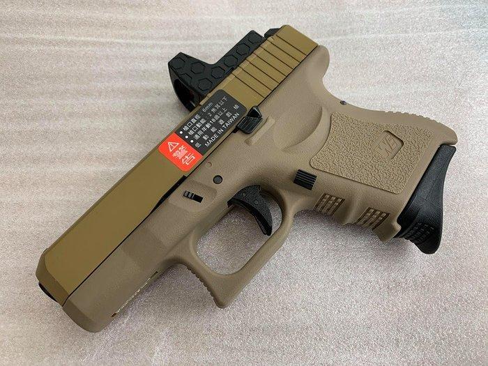 JHS((金和勝 槍店))免運費 WE 沙色 G27 Gen3 RMR版 瓦斯手槍 4822