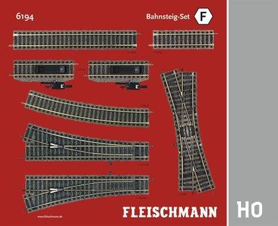 傑仲 博蘭 FLEISCHMANN 鐵軌零件 Track Pack – Platform Set F 6194 HO
