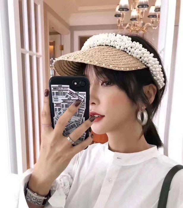 Loro Folico Visors 遮陽帽 仙女珍珠帽