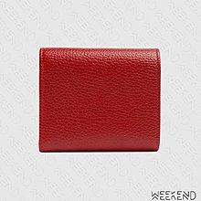 【WEEKEND】 GUCCI GG Marmont 皮夾 短夾 卡夾 零錢包 紅色 546584