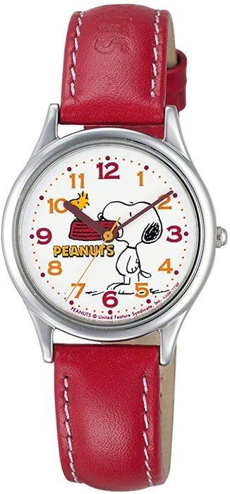 日本正版 CITIZEN 星辰 Q&Q AA95-9852 史努比 腕錶 女錶 女用 手錶 皮革錶帶 日本代購