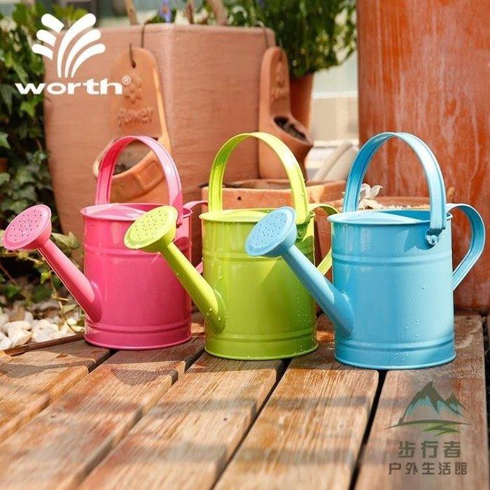 園藝灑水壺澆花澆水壺鐵質灑水桶1.5L