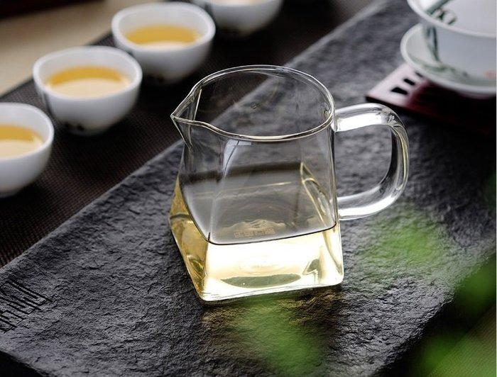 【自在坊】天圓地方茶海 公道杯 茶具 玻璃杯 天圓地方款  300ml優質加厚耐熱款