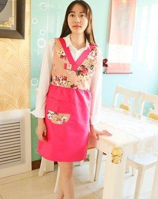 圍裙甜心~韓服韓式料理烘焙餐廳【藕玫色】【現貨】