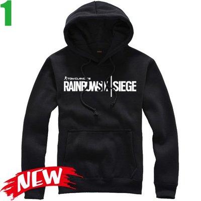 【虹彩六號 圍攻行動 Rainbow Six Siege】連帽厚絨長袖經典遊戲T恤(5種顏色) 購買多件多優惠【賣場一】