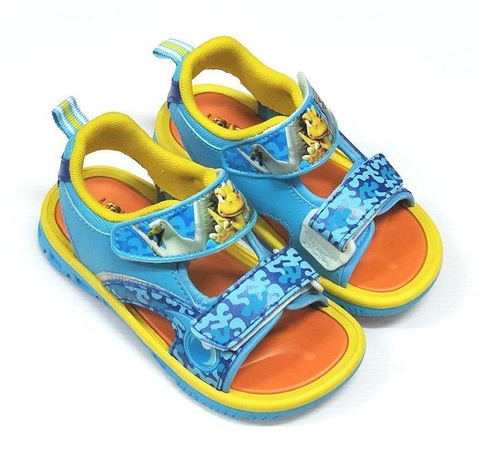 【菲瑪】大尾小岡 可愛涼鞋 藍黃GNKS40864 出清