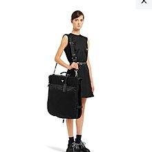 台灣售價9萬 Saffiano leather and nylon garment bag 9.9New